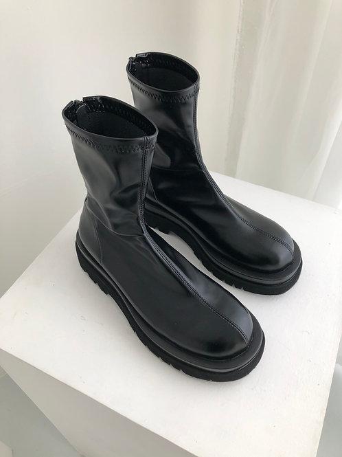 黑色軟皮靴 pre order