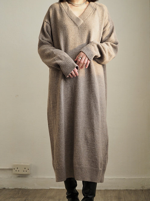 羊毛毛衣連身裙