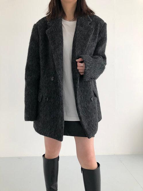 極高質深灰羊毛外套(50%wool)