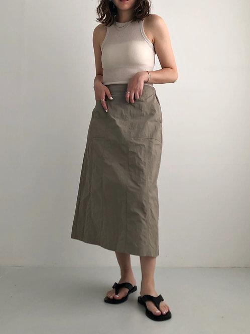 三色尼龍半身裙