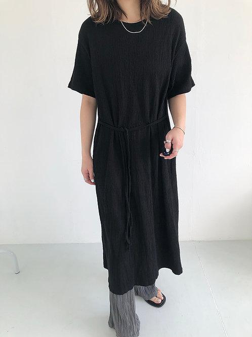 三色棉料連身裙