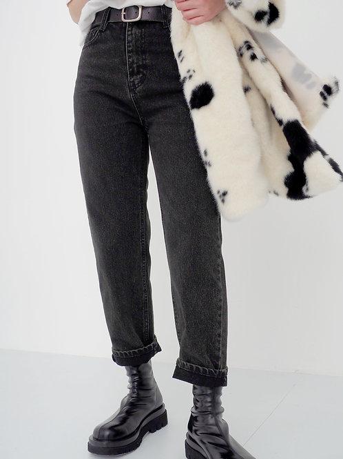 超顯瘦炭灰色牛仔褲