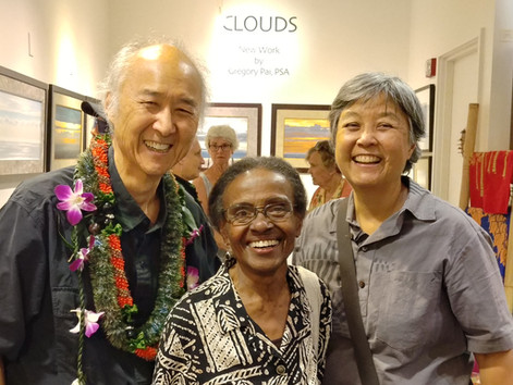 """Opening of show """"Clouds"""" at Nohea Gallery, November 29, 2018"""