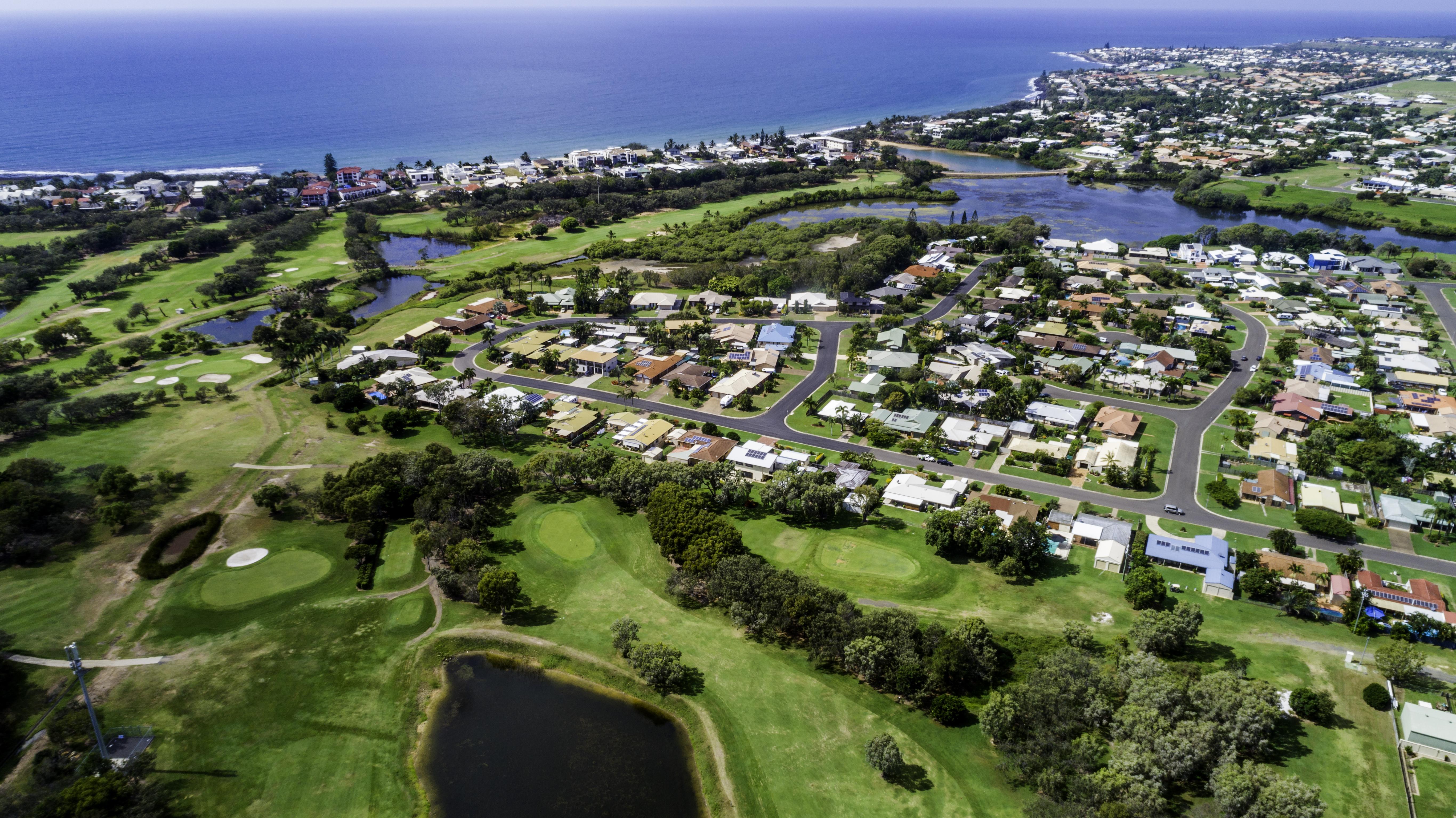 Bargara Golf Course and Kelley's Beach.j