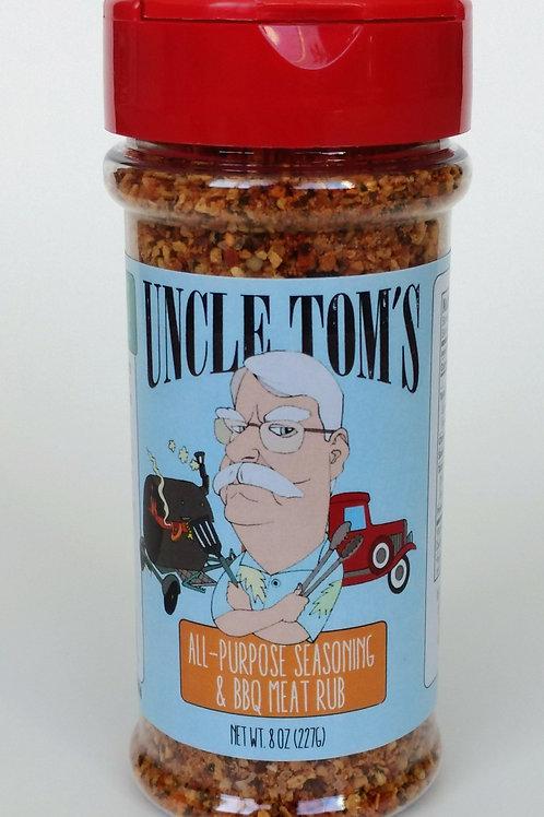 Uncle Tom's All-Purpose Seasoning & BBQ Meat Rub 8 oz