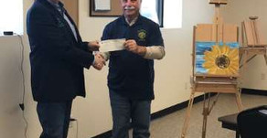 Ellinwood Knights of Columbus donates to Sunflower's art studio