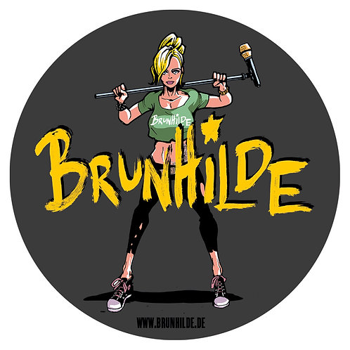 Brunhilde Sticker rund