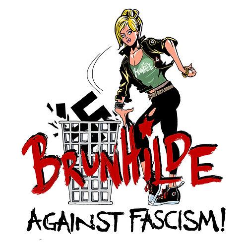 Poster Brunhilde against fascism F*** NZS