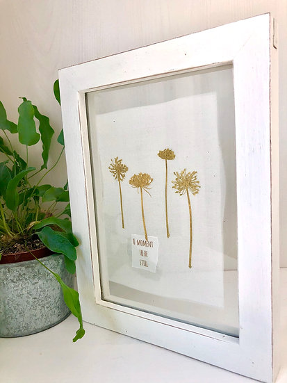 Pressed flower picture -seedheads ' A moment in time'