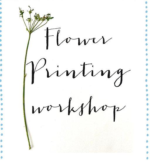 Flower Printing Workshop