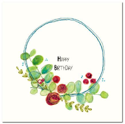 Happy Birthday Stitched Garland (W)