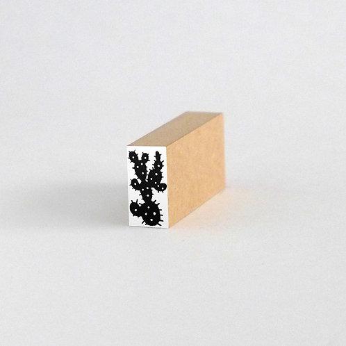 はんこ・変な形のサボテン2(1cm x 2cm)