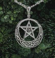 Pentacle et nœuds celtiques- pendentif argent .925 - D: 0.75″