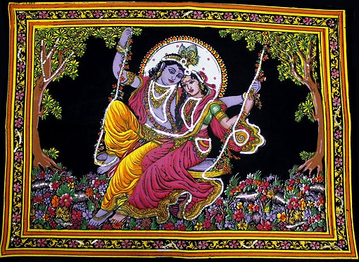 Tapisserie murale -Radha Krishna-