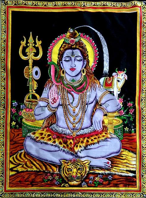 Tapisserie Dieu Shiva (peinte à la main)