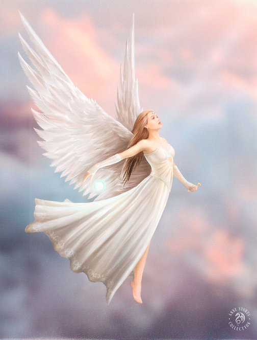 ASCENDANCE ANGEL CANVAS ART PRINT BY ANNE STOKES