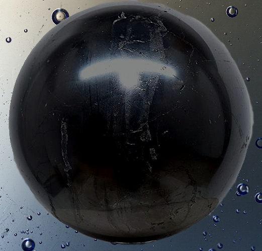 Sphère en shungite naturelle, authentique , polie