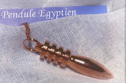 Pendule égyptien royal en métal cuivré
