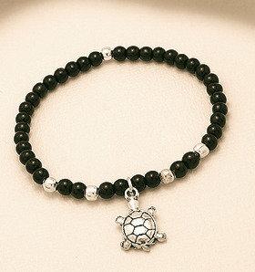 Bracelet en onyx et argent sterling