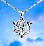 Le Nœud d'Éternité - Le Nœud glorieux, serti de petits cristaux quartz