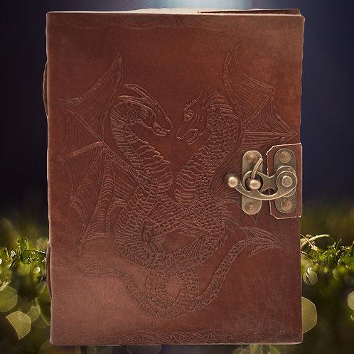 Carnet En Cuir/ Grimoire/ Journal vierge- dragons