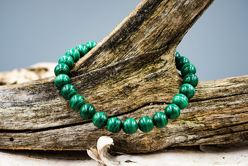 Magnifiques bracelet en malachite naturelle (8mm/perle)