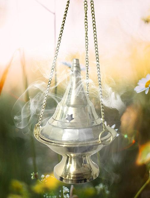 Brûleur d'encens suspendu pour cônes, charbon résines et poudre