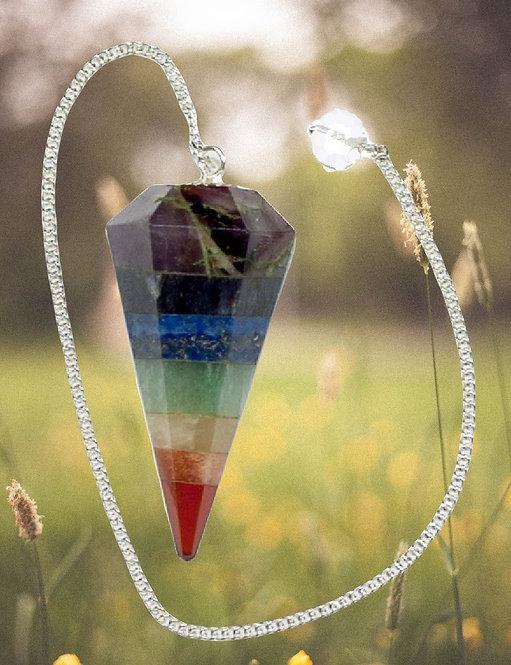 Pendule  aux 7 couleurs des chakras