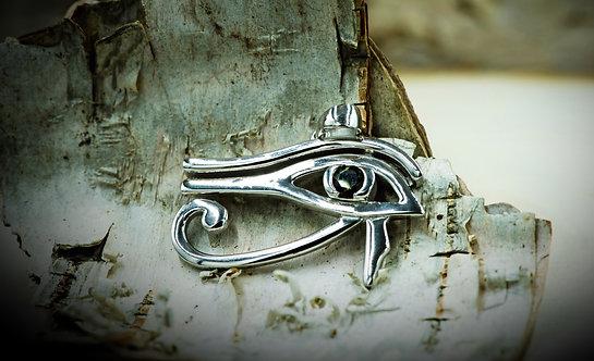 Pendentif Oeil de Ra  (Moldavite + Sterling Silver 925)
