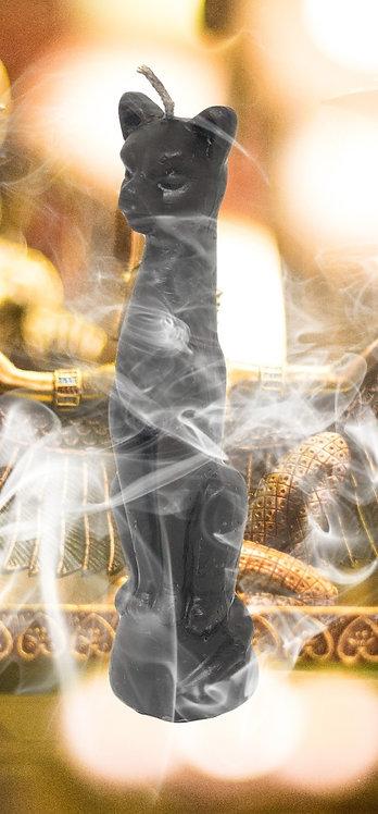 Bougie rituelle Chat noir : briser les sorts