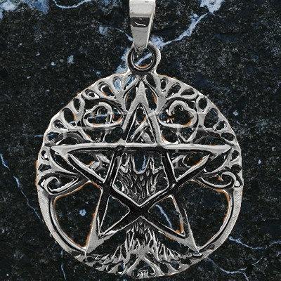 Pentacle arbre de vie et pentagramme