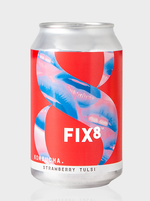 Fix8 Strawberry Tulsi Kombuch