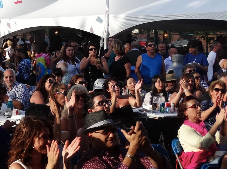 Crowd listening to Music Greek Fest
