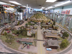 Enourmous on site working model train display runs all day!