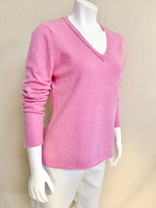 Pink 100% Cashmere Sweater
