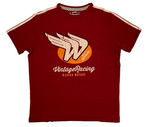 T-Shirt Vintage Racing Red Men