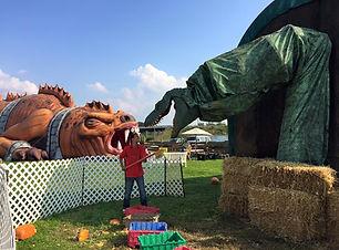 Pumpkin Eating Dinosaor