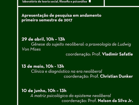 Apresentação da pesquisa - Primeiro semestre de 2017