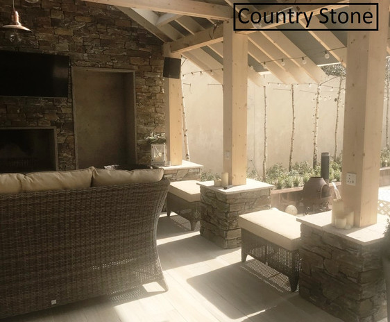 Country Stone Pergola
