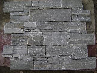 Grey slate real stone cladding