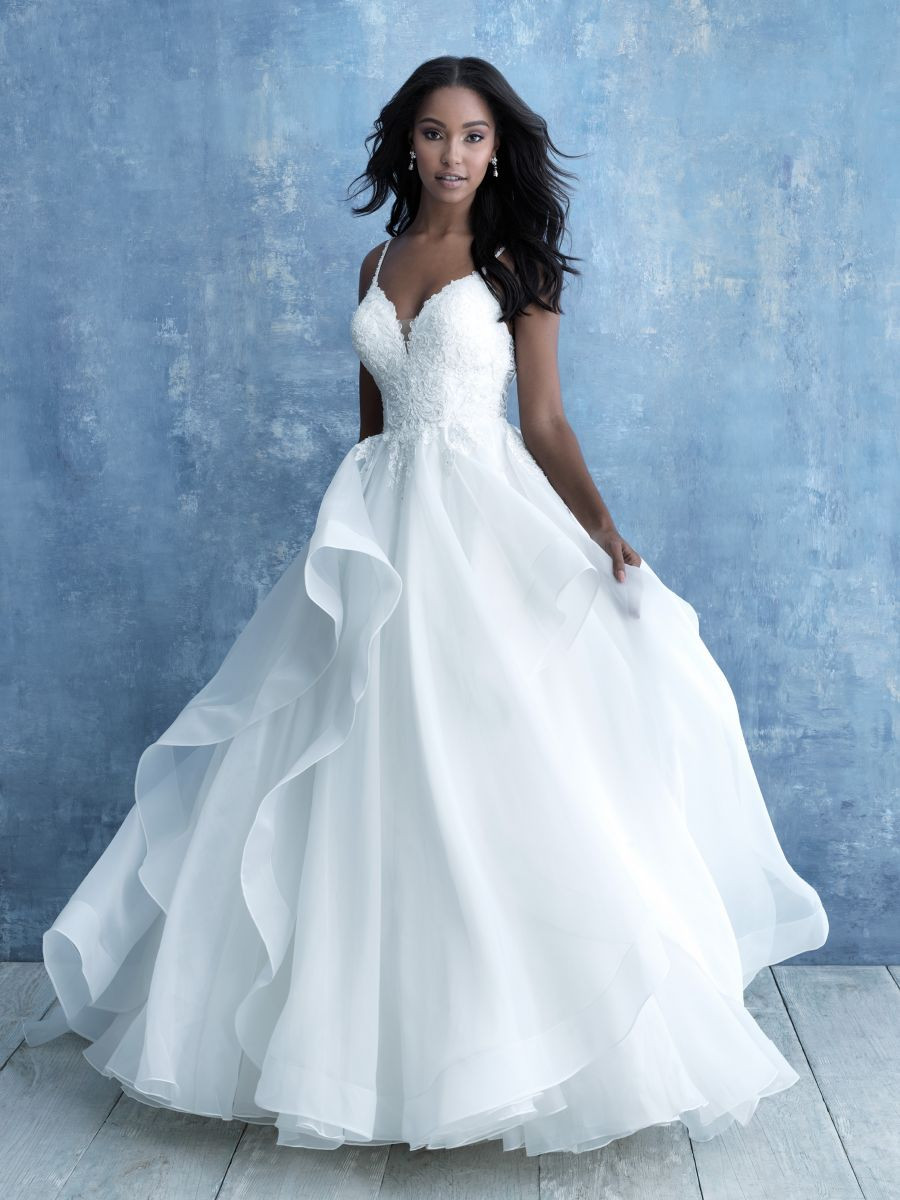 Flirty Flowy Ball Gown with Scoop Back