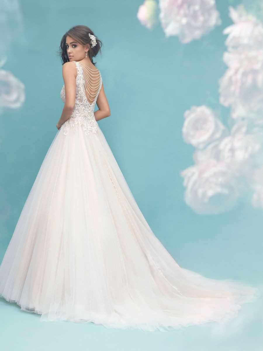 Ball Gown with Stunning Draped Pearls