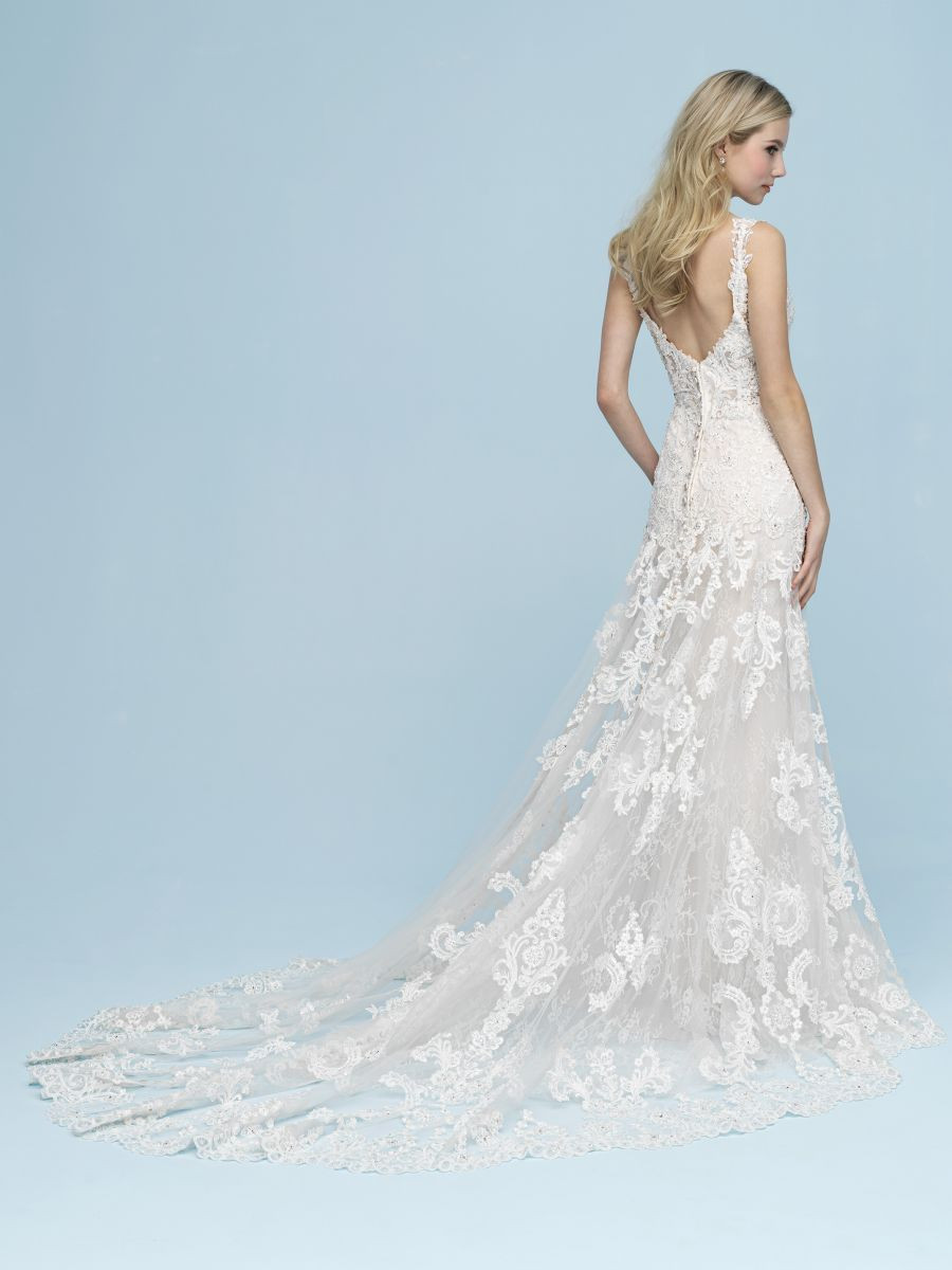 Sheath Fit and Flare with a Beautiful Train