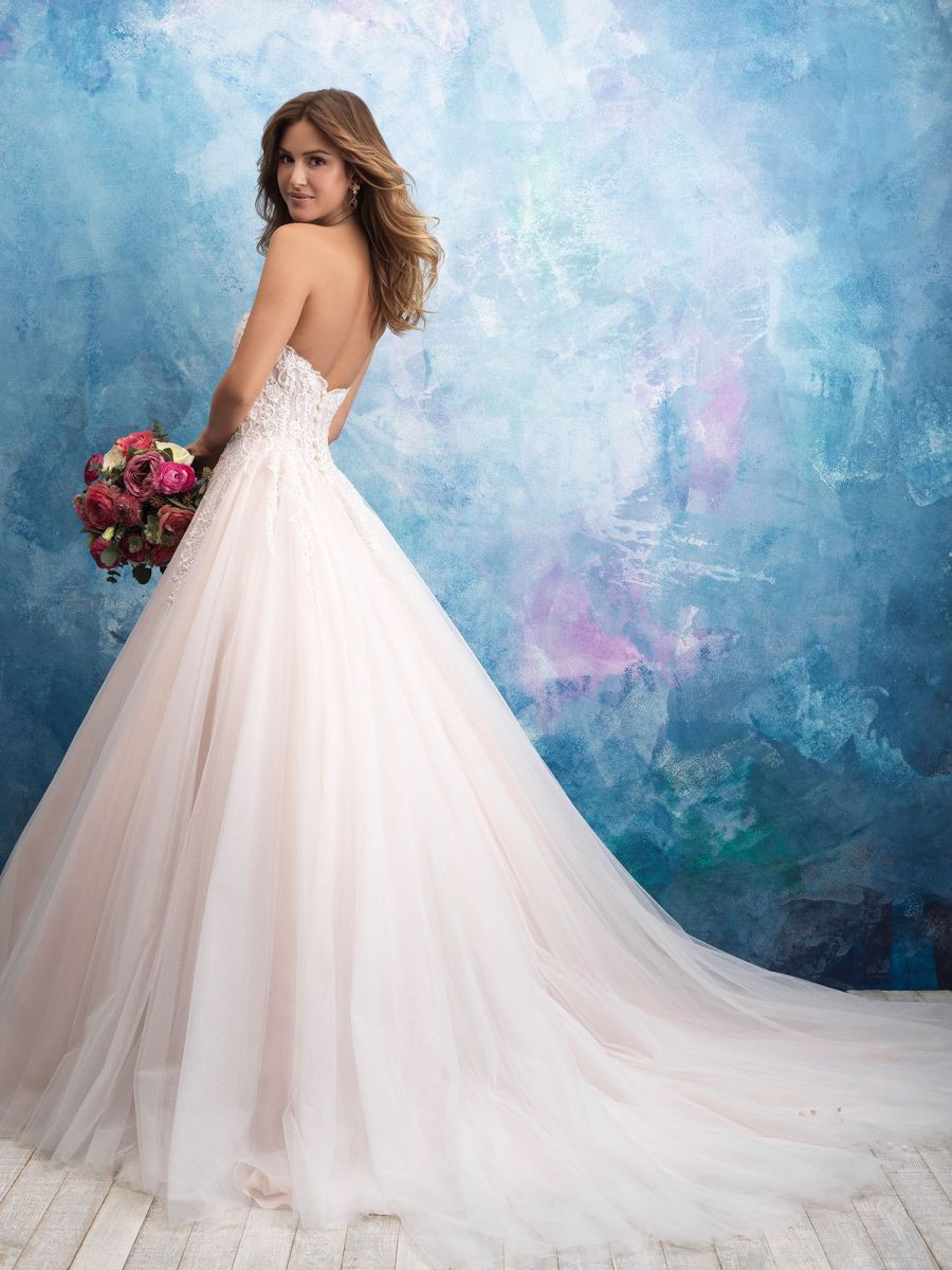 Flirty Strapless Ball Gown with Unlined Bodice