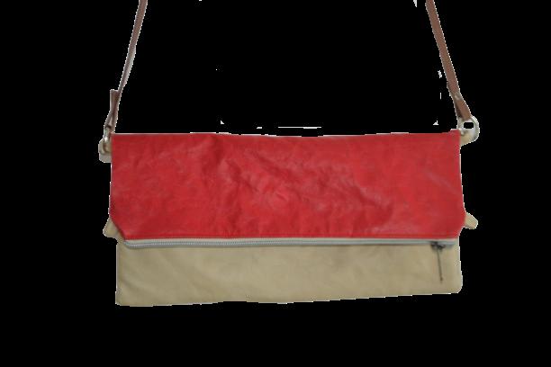 Clutch4in1: rot+beige