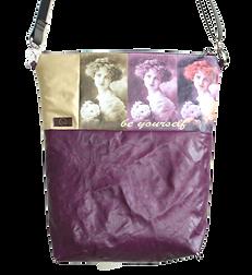 Ina, lila, beige, Tin-G, Design, Taschendesign, Designertasche, Clutch, selbstgestalten, create your own, wandelbar, veganes Leder, vegan leather