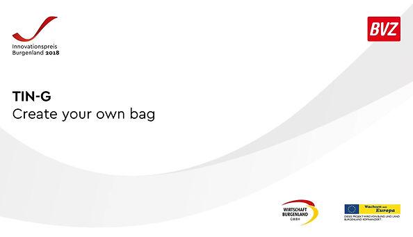 Innovationspreis, Innovationspreis Burgenland, veganes Leder, Tin-G, vegan, vegane Tasche, wanelbar, wandelbare Tasche, veränderbar, individuell