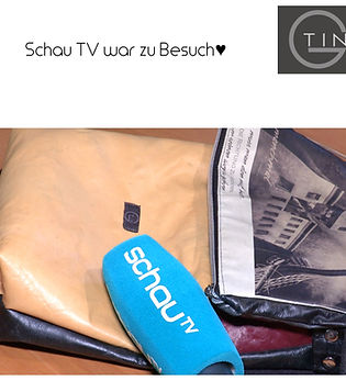 Tin-G, wandelbare Tasche, vegane Tasche, Tasche, wandelbar, Martina Fülöp-Unger, Schau TV, Schau TV Burgenland, Fernsehbeitrag