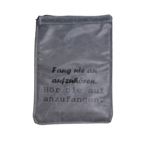 Handylasche grau+schwarz+fang nie