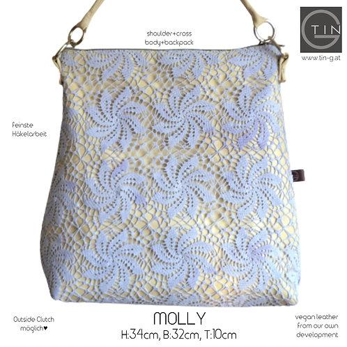 MOLLY-2nd life-Tischdecke handgehäkelt